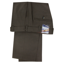 Meyer Trousers Brown Gabardine - Online Exclusive