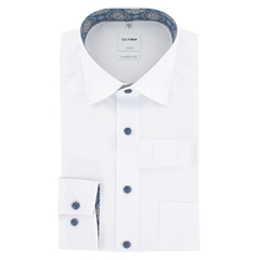 Olymp Comfort Fit Shirt - White - Size XXL Only