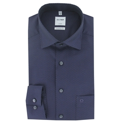 Olymp Comfort Fit Shirt - Purple Neat - Size M & XXL Only