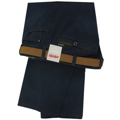 Meyer Trousers Luxury Winter Cotton - Navy Blue - Style Diego
