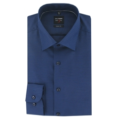 Olymp Level Five Shirt - Body Fit - Navy Neat - Size XL