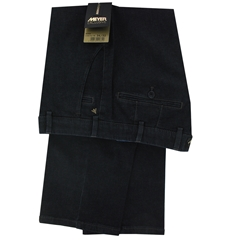 New Meyer Trouser Premium Exclusive Cotton & Cashmere Blue Denim