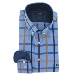 Giordano Shirt - Multi Check Size -  Size L & 4XL Only