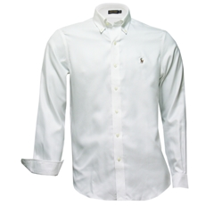 Ralph Lauren Shirt - White Pique - Size XXL Only