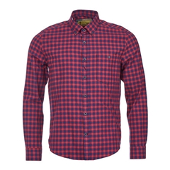 Barbour Steve McQueen Checked Shirt - Rich Red and Navy - Size 3XL only