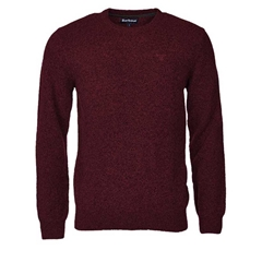 Autumn 2017 Barbour Lifestyle Tisbury Crew Neck Jumper - Ruby - XL Only