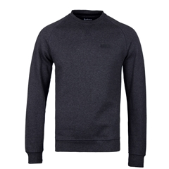 Barbour International Crew Neck Sweat - Charcoal Marl - Size L Only