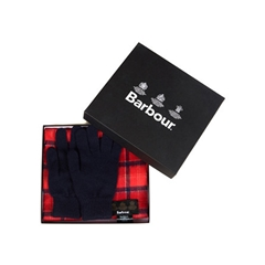 New Autumn 2016 Barbour Lifestyle Scarf & Glove Gift Box - Cardinal