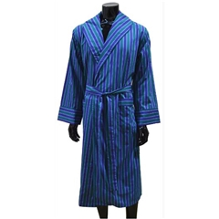 Lighweight Men's Dressing Gown - Blue/Green