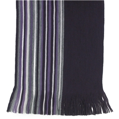 Men's Knitted Scarf - Purple/Grey Stripe Design Men's Scarf