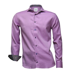 "Oscar Shirt - Pink With Circle Contrast - Size 18"" Only"