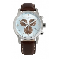 Blue Face Chronograph Watch