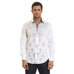 Robert Graham Baroque Woven Shirt - White - Size 2XL Only