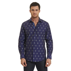 Robert Graham Jace Woven Shirt - Purple