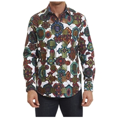 Robert Graham Prancer Shirt - White - Size XL Only