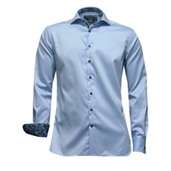 New Autumn 2016 Giordano Shirt - Blue with trim details