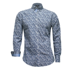 New 2017 Fynch-Hatton Shirt - Blue Flowers