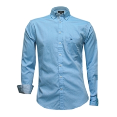 New 2017 Fynch-Hatton Shirt - Plain Turquoise Oxford
