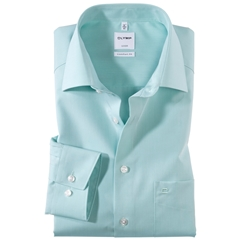 Olymp Comfort Fit Shirt - Chambray - Mint