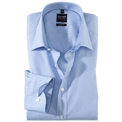 Olymp Level Five Body Fit Shirt - Faux Uni - Light Blue - 2005 64 11