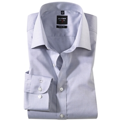 Olymp Level Five Body Fit Shirt - Chambray - Grey