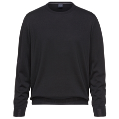 Olymp - Modern Fit - Wool Round Neck Sweater - Black - 0150 11 68