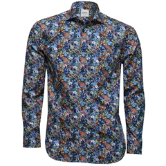 New 2017 Oscar Shirt - Blue Floral Print