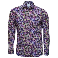 New 2017 Oscar Shirt - Purple Floral Print