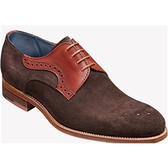 Barker Shoes Style: Cohen - Bitter Choc Suede / Rosewood Calf