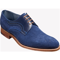 Barker Shoes Style: Cohen - Blue Suede / Calf