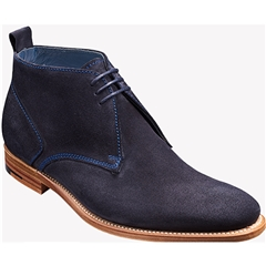 Barker Shoes Style: Lucius- Dark Navy Suede