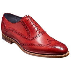 Barker Shoes Style: Valiant - Red Hand-painted