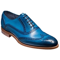 Barker Shoes Style: Valiant - Blue Hand-painted