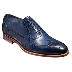 Barker Shoes Style: Valiant - Navy Hand-painted