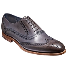 Barker Shoes Style: Valiant - Grey Hand-painted