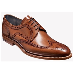 Barker Shoes Style: Victor - Brown Hand-painted