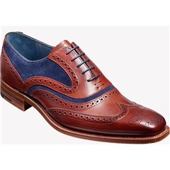 Barker Shoe Style: McClean - Rosewood Calf / Navy Suede
