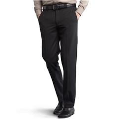 Meyer Trouser Fine Gabardine Wool - Black - Roma 288 09