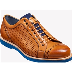 Barker Shoes Style: Miami - Cedar Calf / Perf / Blue Sole