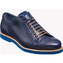 Barker Shoes Style: Miami - Navy Calf / Perf / Blue Sole