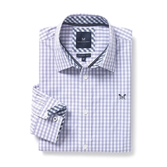 New 2017 Mens Crew Clothing Classic Fit Gingham Shirt - Parma Violet