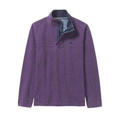 New 2017 Mens Crew Clothing Padstow Pique Sweat - Plum
