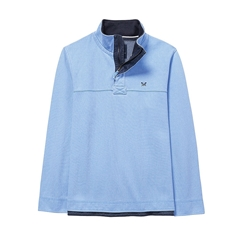 New 2017 Mens Crew Clothing Padstow Pique Sweat - Sky Blue