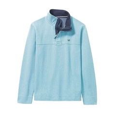 New 2017 Mens Crew Clothing Padstow Pique Sweat - Blue Topaz