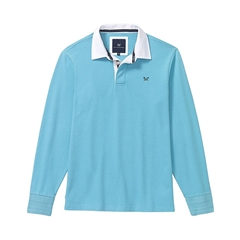 New 2017 Mens Crew Clothing Rugby Jersey - Blue Topaz