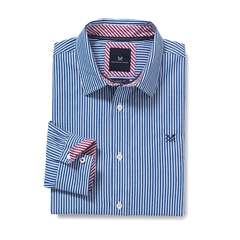 New 2017 Mens Crew Clothing Classic Fit Shirt - Ultra Marine Stripe