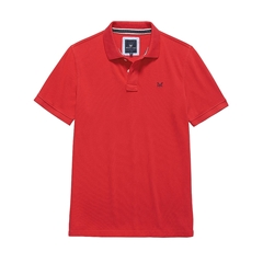 New 2017 Mens Crew Clothing Classic Pique Polo - Crimson