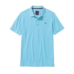 New 2017 Mens Crew Clothing Classic Pique Polo - Blue Topaz