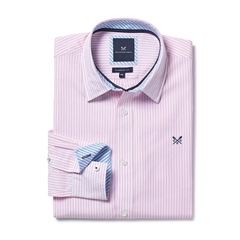 New 2017 Mens Crew Clothing Classic Fit Shirt - Classic Pink Stripe