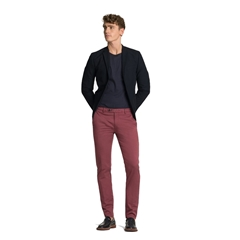 New 2017 Meyer MMX Trousers - Luxury Satin Chino - Red